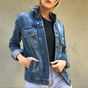 Jackets & Blazers - Blue Jean Button Up Jacket